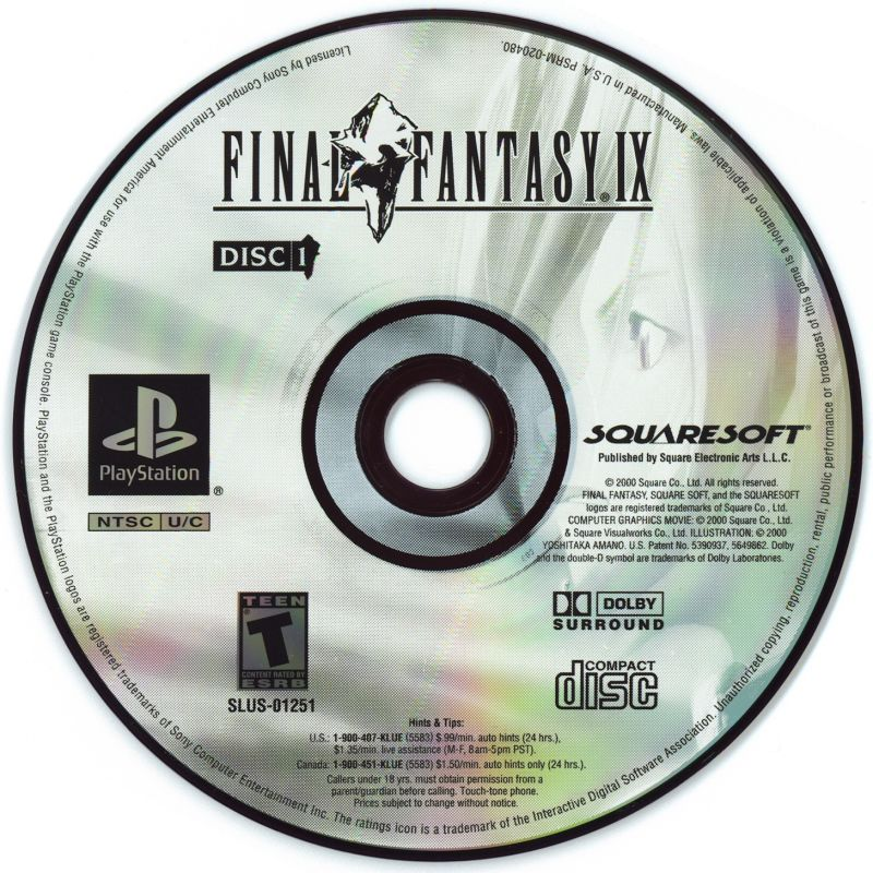 Final Fantasy IX PlayStation Media Disc 1