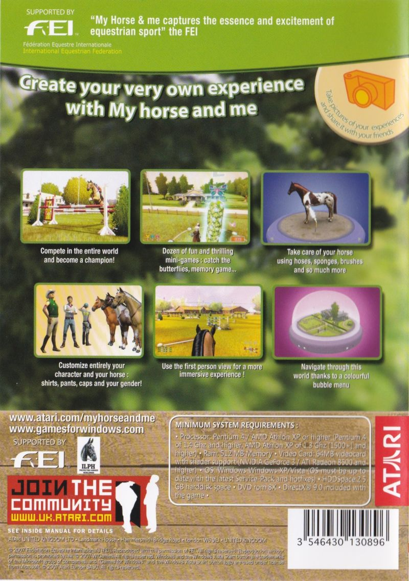 My Horse & Me Windows Back Cover