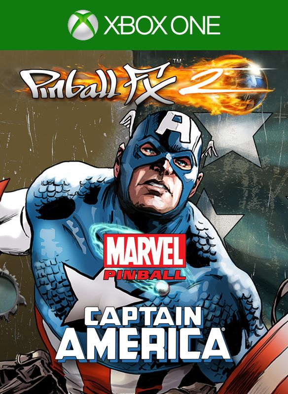 Pinball FX2: Captain America Xbox One Front Cover