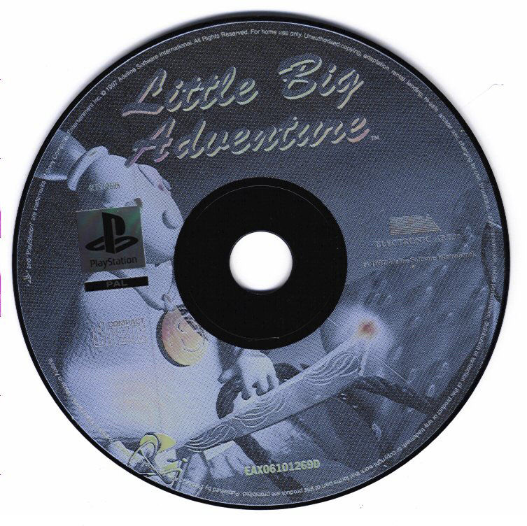 Relentless: Twinsen's Adventure PlayStation Other disc