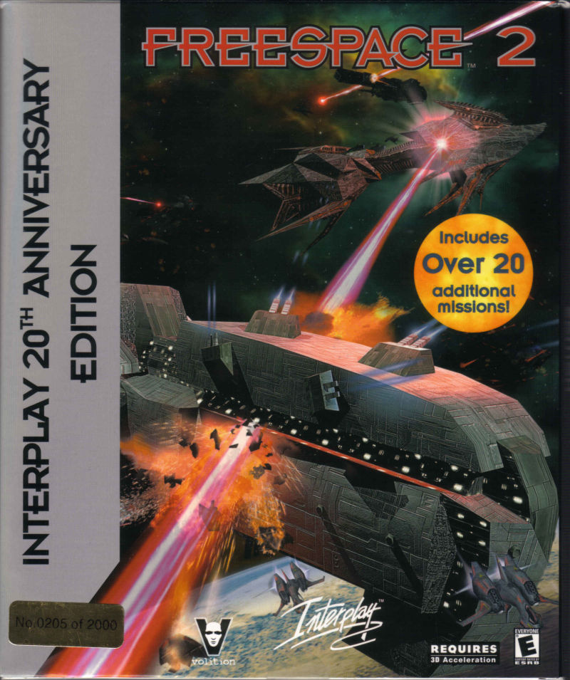 Freespace 2: Interplay 20th Anniversary Edition Windows Front Cover