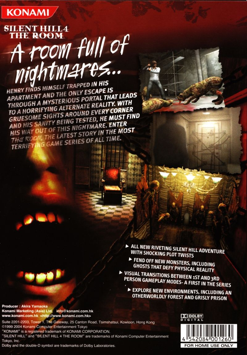 Silent Hill 4 The Room 2004 Windows Box Cover Art Mobygames