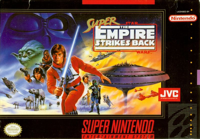 Super Star Wars: The Empire Strikes Back SNES Front Cover