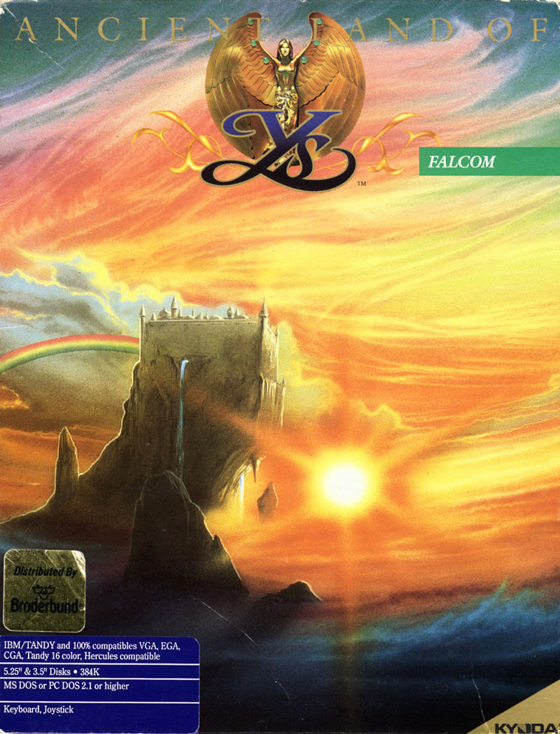 Ys: The Vanished Omens DOS Front Cover