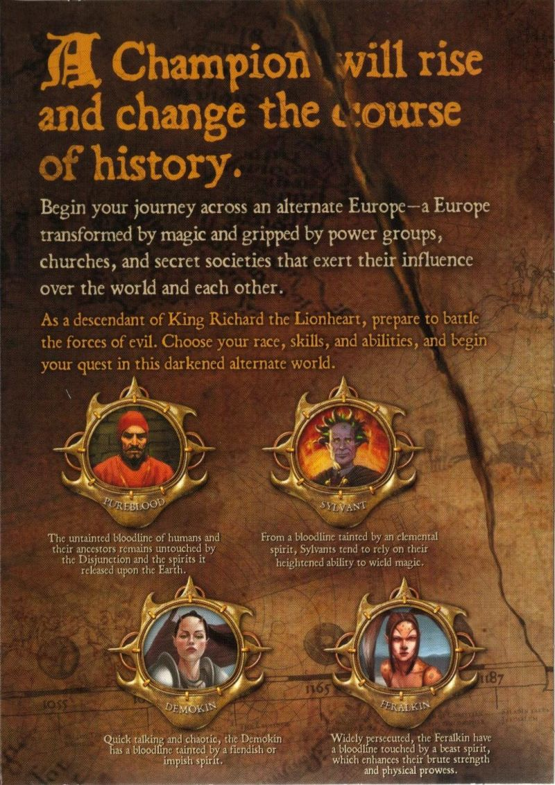 Lionheart: Legacy of the Crusader Windows Inside Cover Left Flap