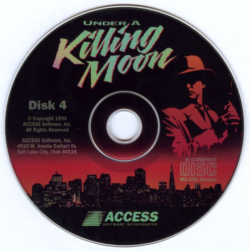 Under a Killing Moon DOS Media Disc 4
