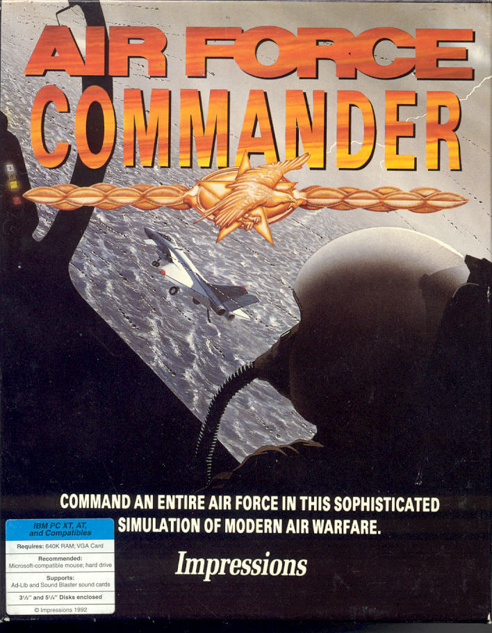 Air Force Commander DOS Front Cover