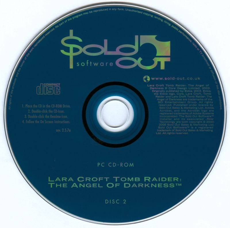 Lara Croft: Tomb Raider - The Angel of Darkness Windows Media Disc 2