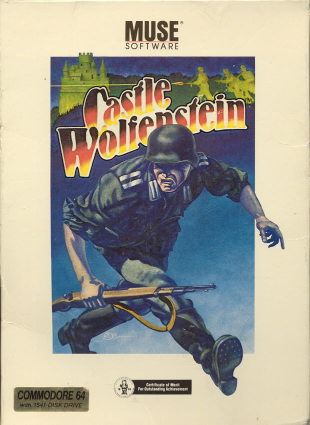 Castle Wolfenstein Commodore 64 Front Cover