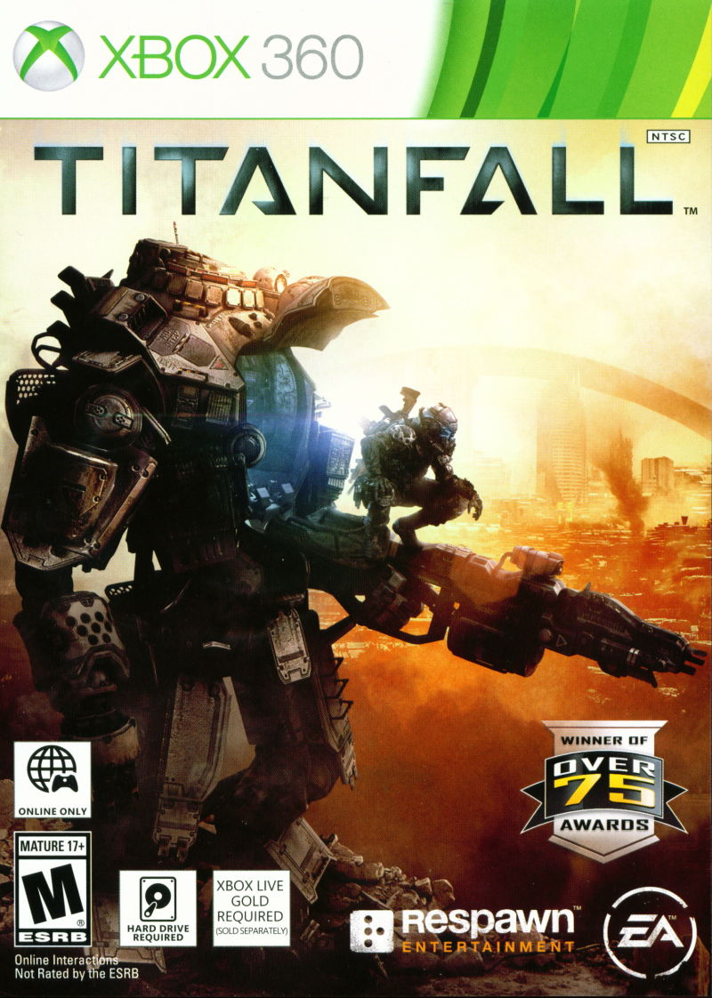 Titanfall (2014) Xbox 360 box cover art - MobyGames Xbox 360 Game Cover Size