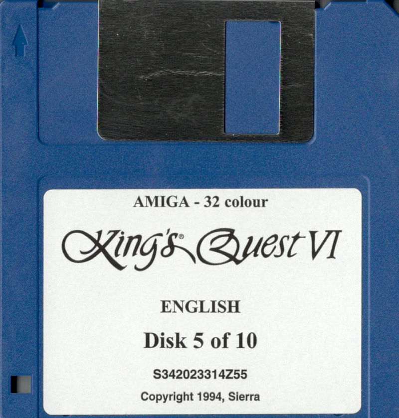 King's Quest VI: Heir Today, Gone Tomorrow Amiga Media Disk 5