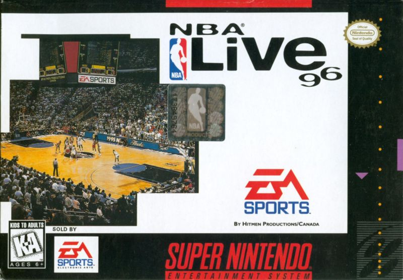 NBA Live 96 SNES Front Cover