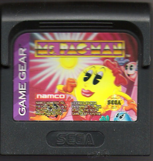 Ms. Pac-Man Game Gear Media