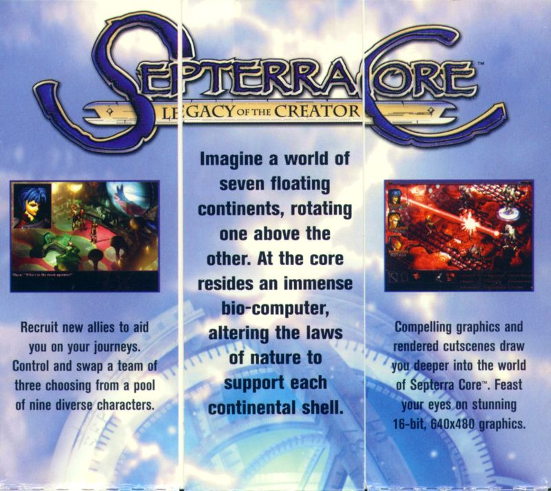 Septerra Core: Legacy of the Creator Windows Back Cover Top