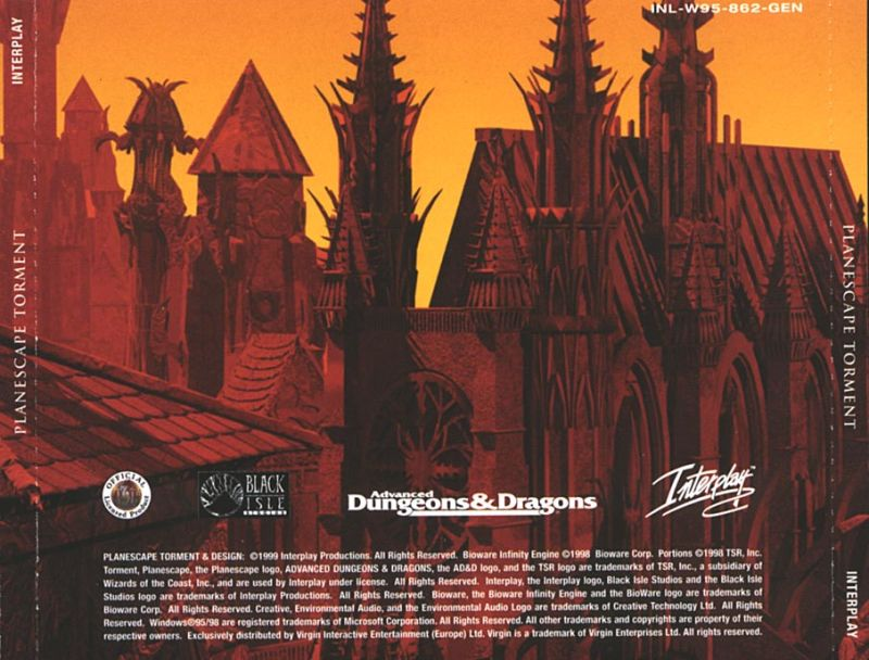 Planescape: Torment Windows Other Jewel Case - Back