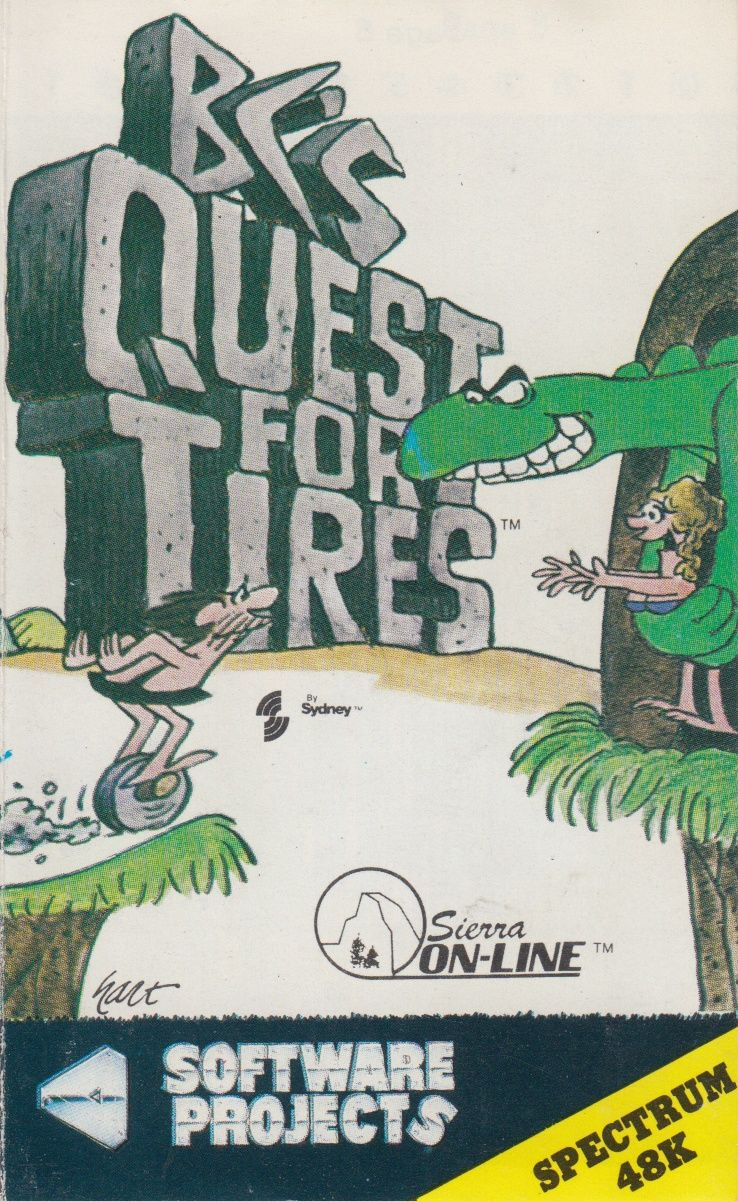 BC's Quest for Tires ZX Spectrum Front Cover