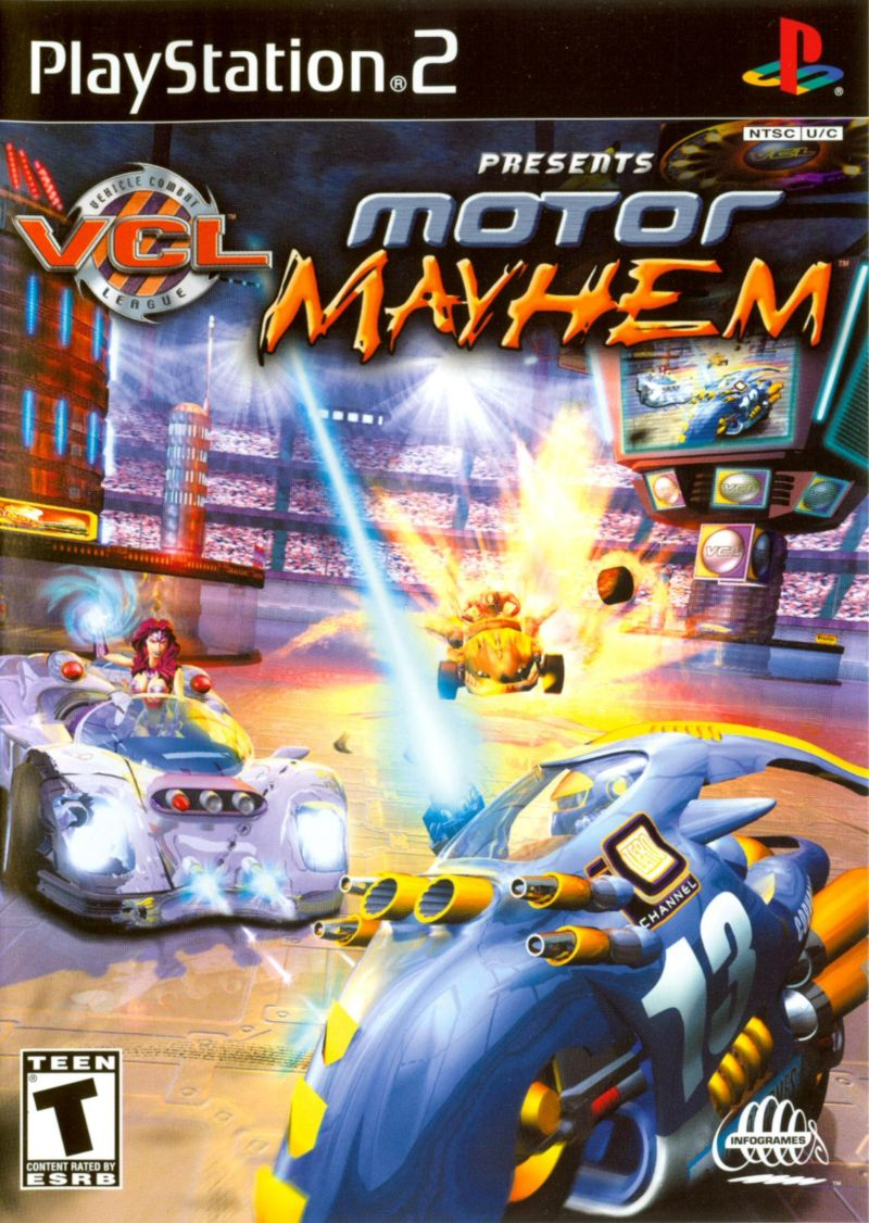 motor mayhem  2001  playstation 2 box cover art
