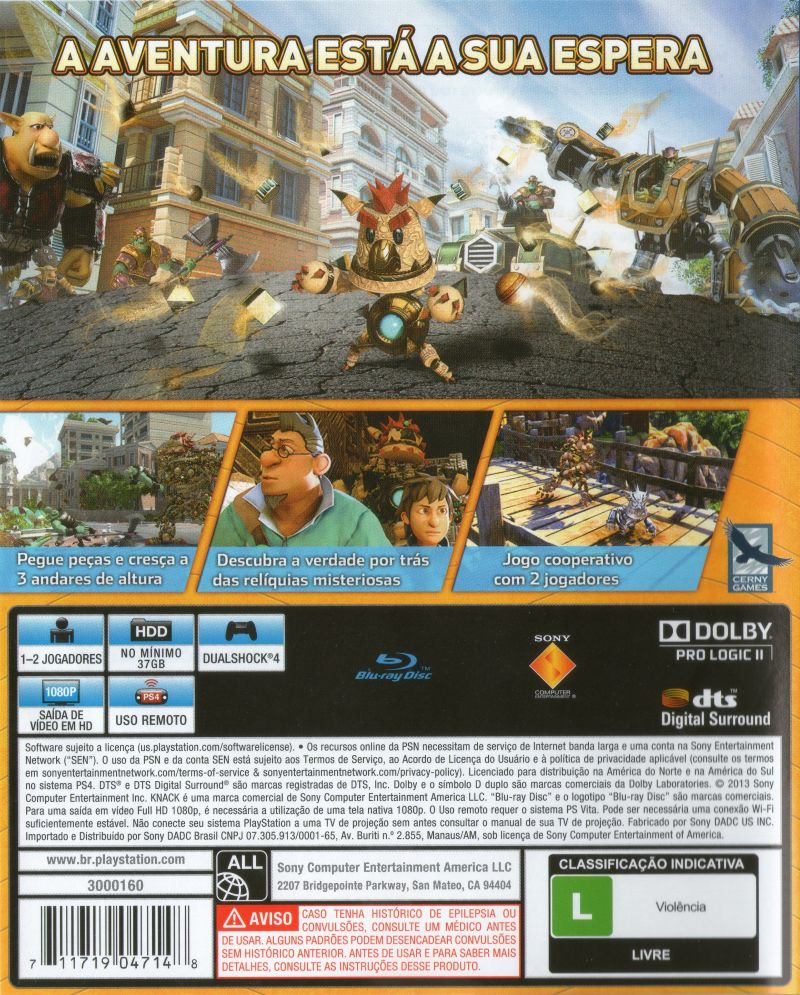 Knack (2013) PlayStation 4 box cover art - MobyGames