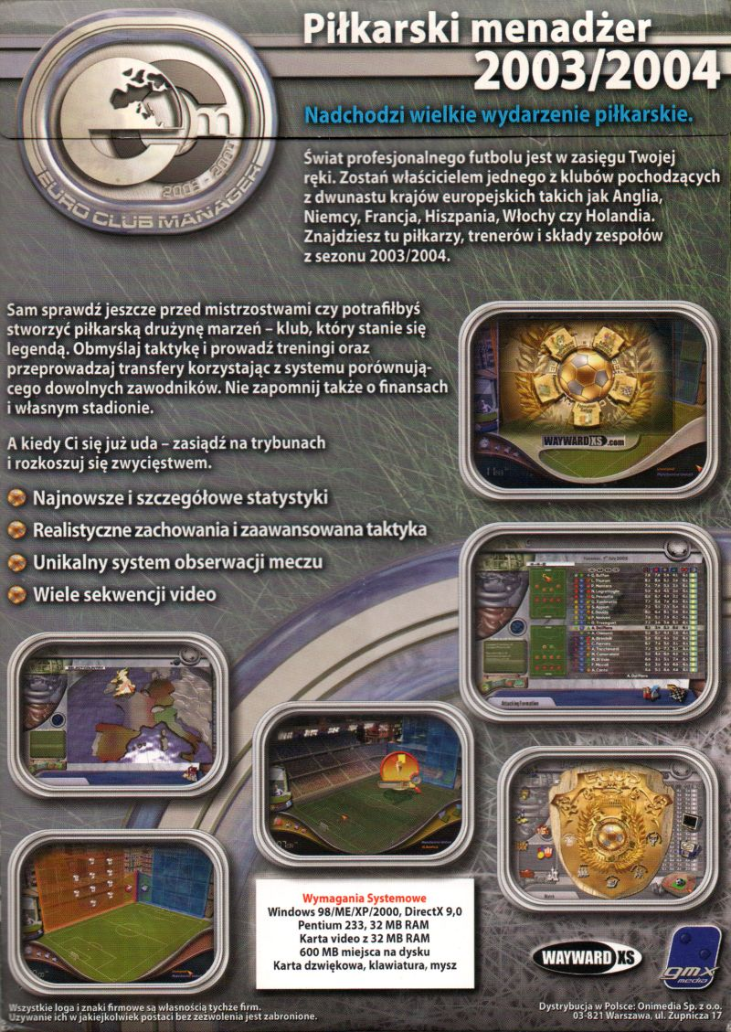 Euro Club Manager 2003 04 2003 Windows Box Cover Art Mobygames