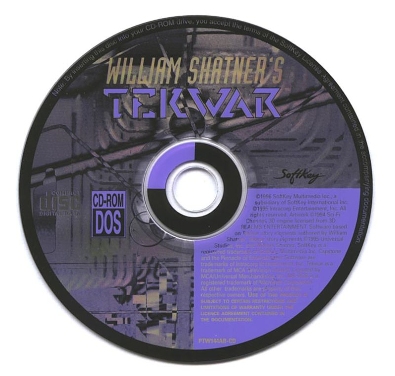 William Shatner's TekWar DOS Media