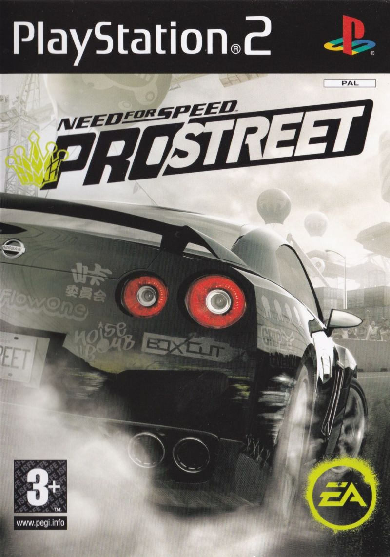 Need for Speed: ProStreet PlayStation 2 Front Cover