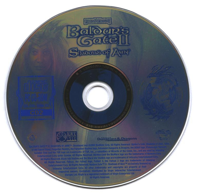 Baldur's Gate II: Shadows of Amn Windows Media Disc 2
