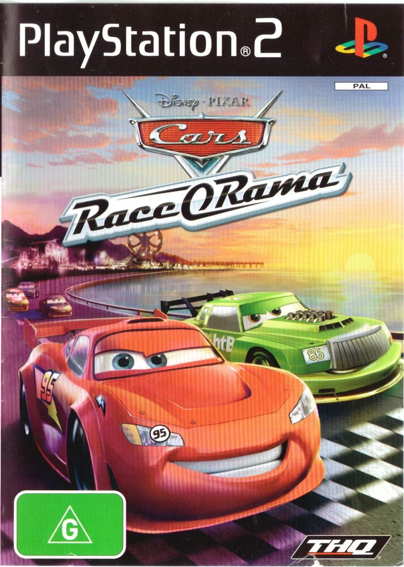 Disney Pixar Cars Race O Rama Playstation Box Cover Art