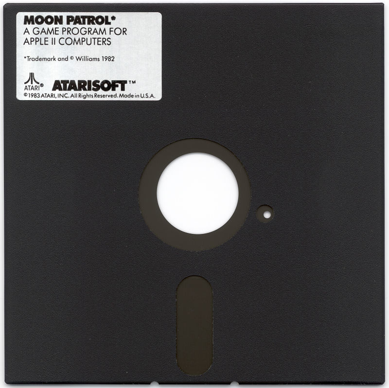Moon Patrol Apple II Media