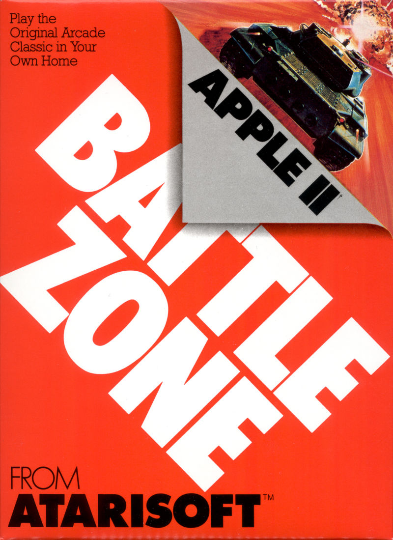 Battlezone Apple II Front Cover