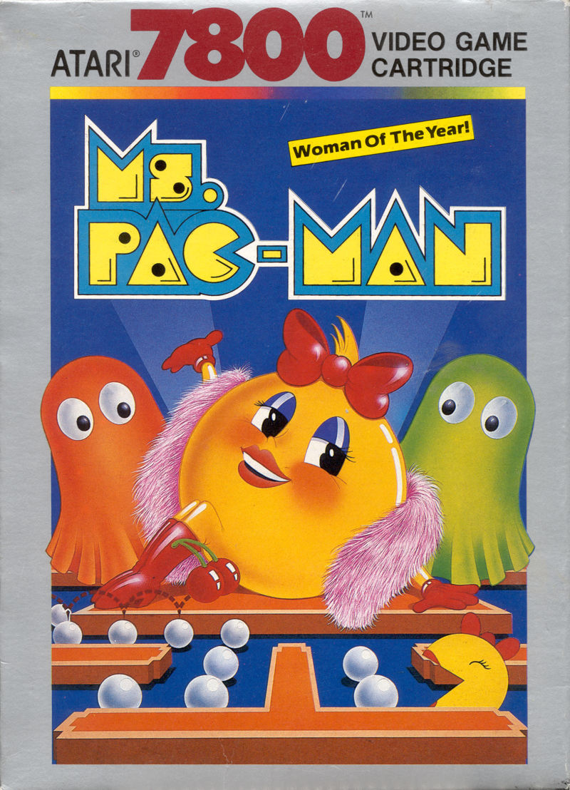 Ms. Pac-Man Atari 7800 Front Cover