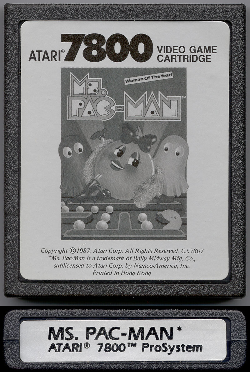 Ms. Pac-Man Atari 7800 Media