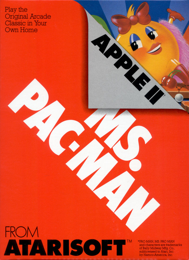 Ms. Pac-Man Apple II Front Cover