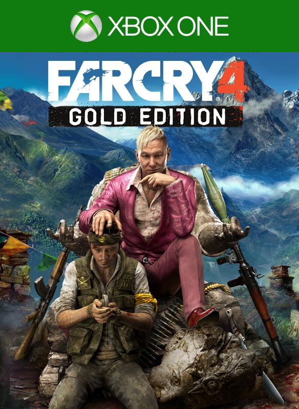 far cry 4 gold edition 2014 xbox one box cover art. Black Bedroom Furniture Sets. Home Design Ideas
