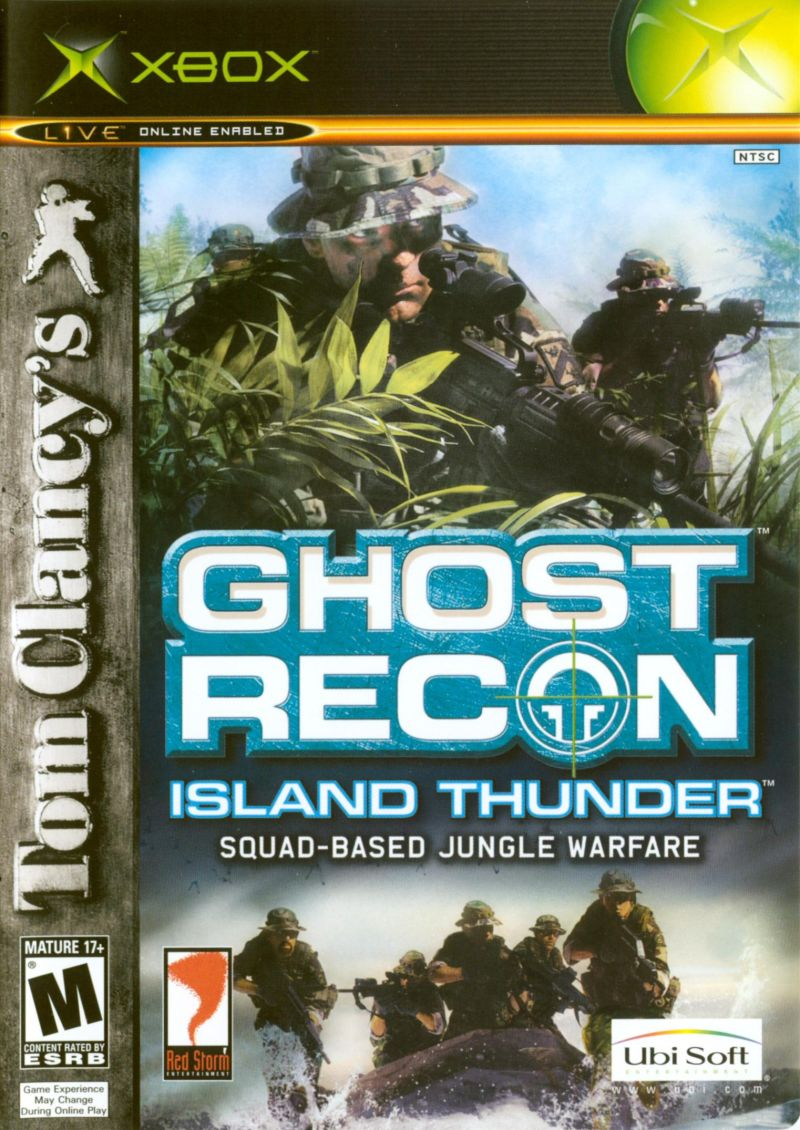 Tom Clancy's Ghost Recon: Island Thunder Xbox Front Cover