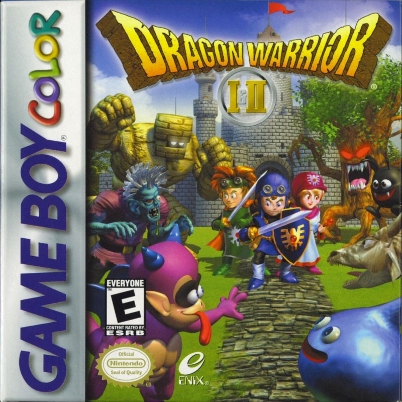 Dragon Warrior I & II Game Boy Color Front Cover