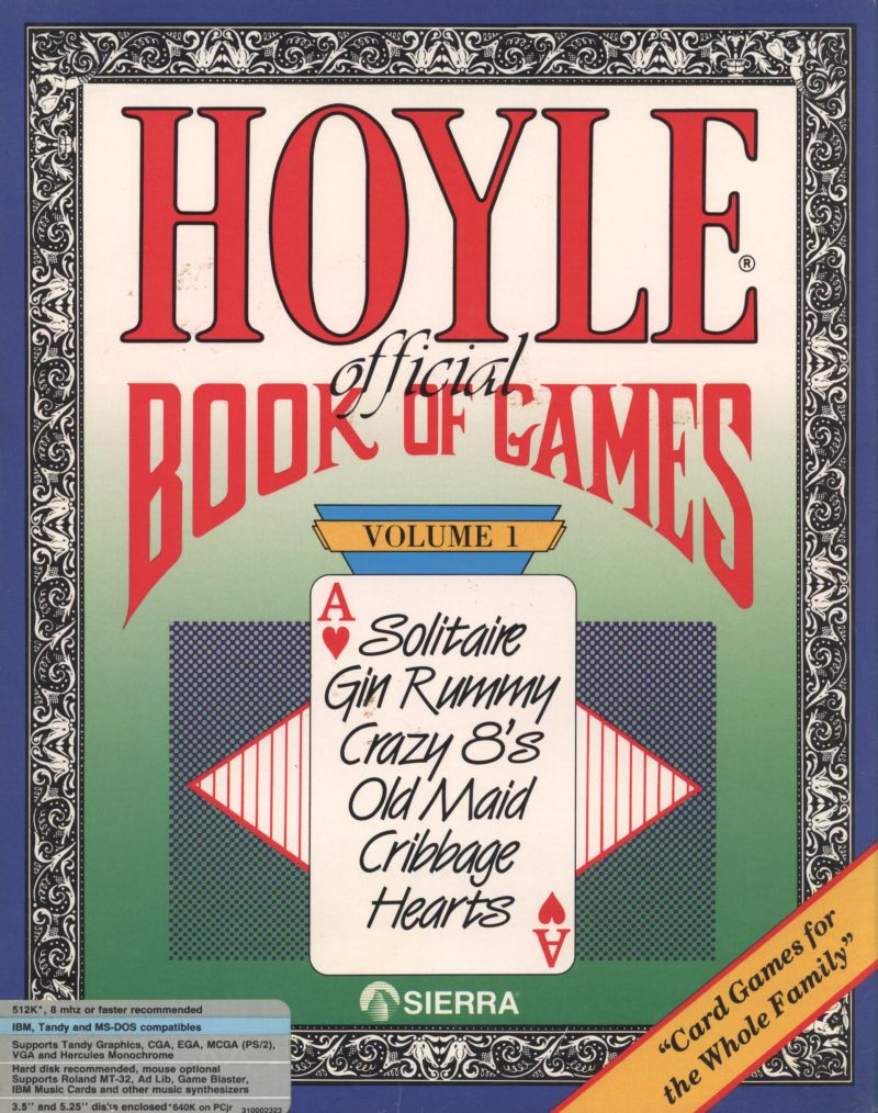 Hoyle Official Book Of Games Volume 1 For Amiga 1990