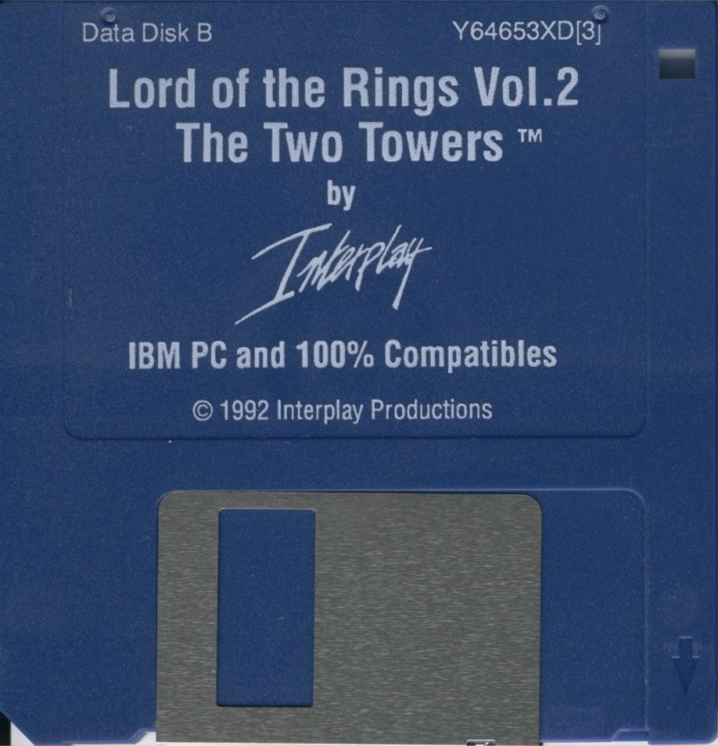 J.R.R. Tolkien's The Lord of the Rings, Vol. II: The Two Towers DOS Media Data Disk B