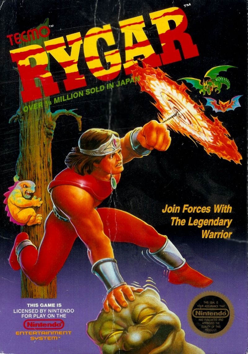 Rygar NES Front Cover