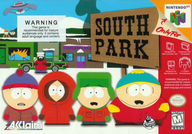 South Park Nintendo 64 Front Cover