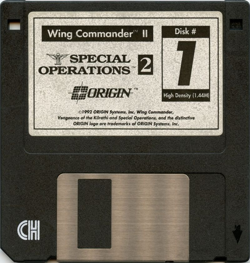Wing Commander II: Vengeance of the Kilrathi - Special Operations 2 DOS Media Disk 1
