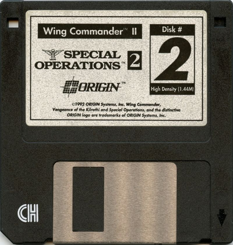 Wing Commander II: Vengeance of the Kilrathi - Special Operations 2 DOS Media Disk 2
