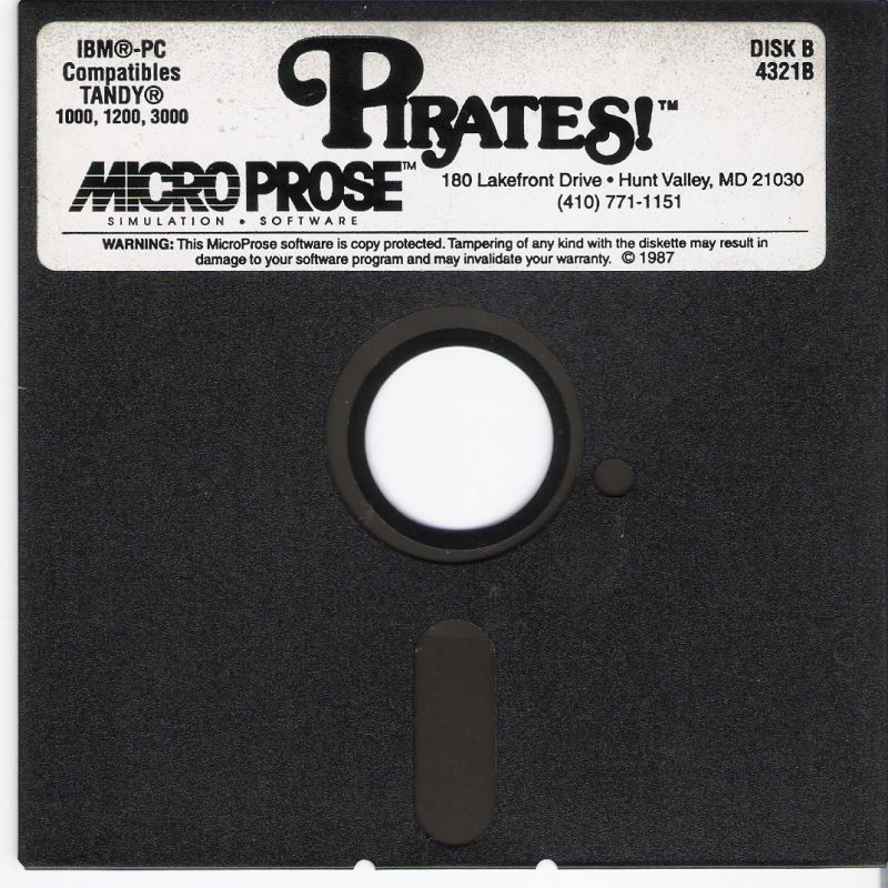 Sid Meier's Pirates! PC Booter Media Disk B