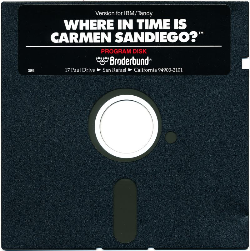 Where in Time Is Carmen Sandiego? DOS Media Program Disk