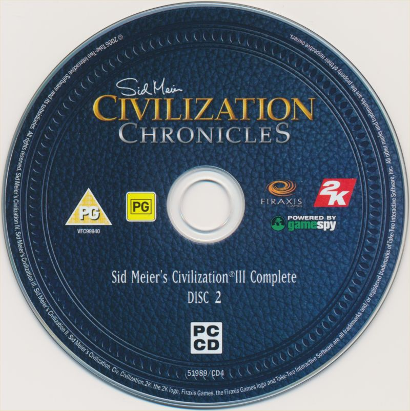 Sid Meier's Civilization Chronicles Windows Media Civilization III Disc 2