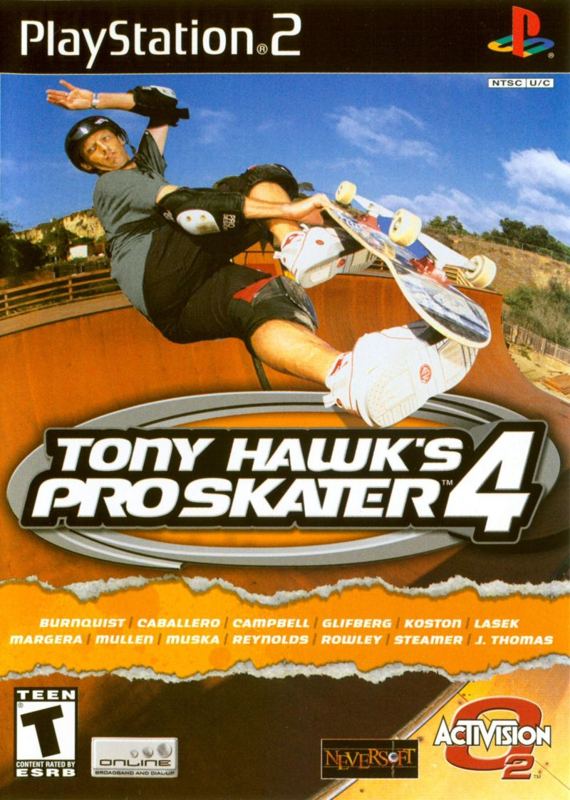 Tony Hawk's Pro Skater 4 PlayStation 2 Front Cover
