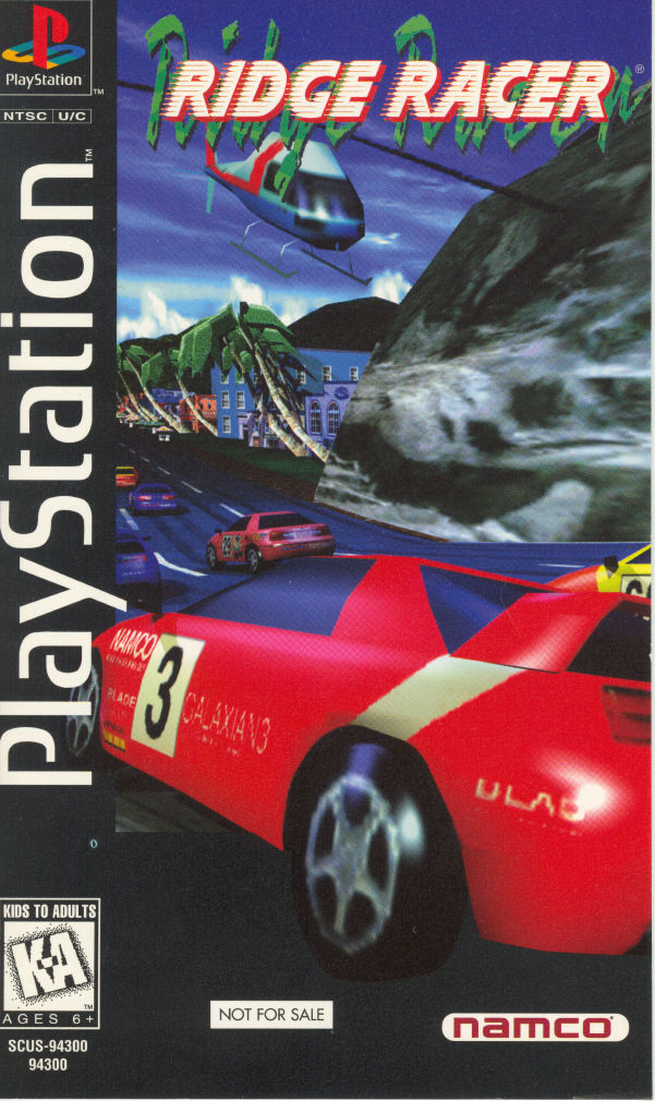 Ridge Racer PlayStation Front Cover