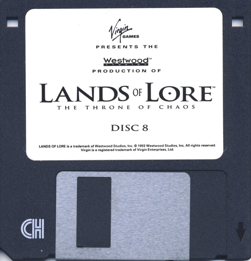 Lands of Lore: The Throne of Chaos DOS Media Disk 8