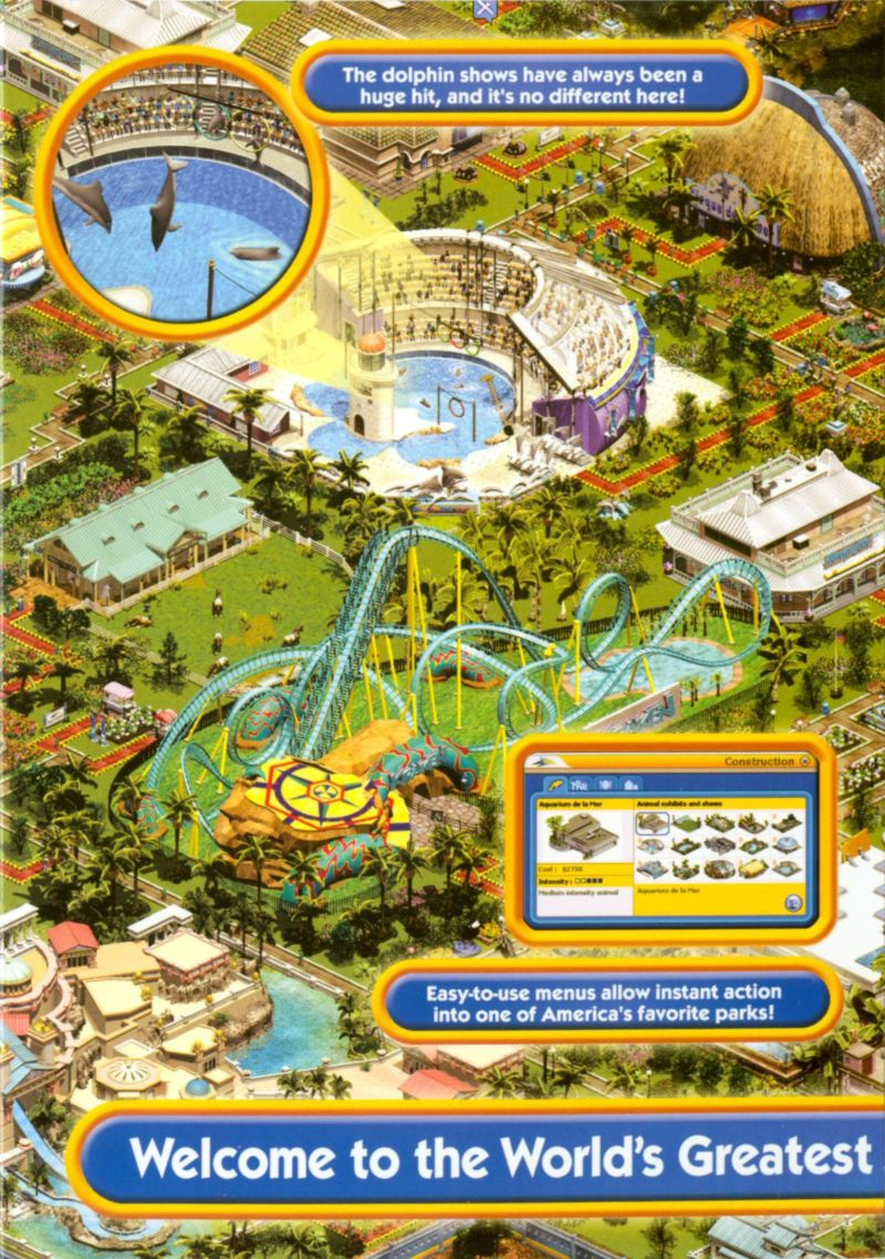 SeaWorld Adventure Parks Tycoon (2003) Windows box cover art