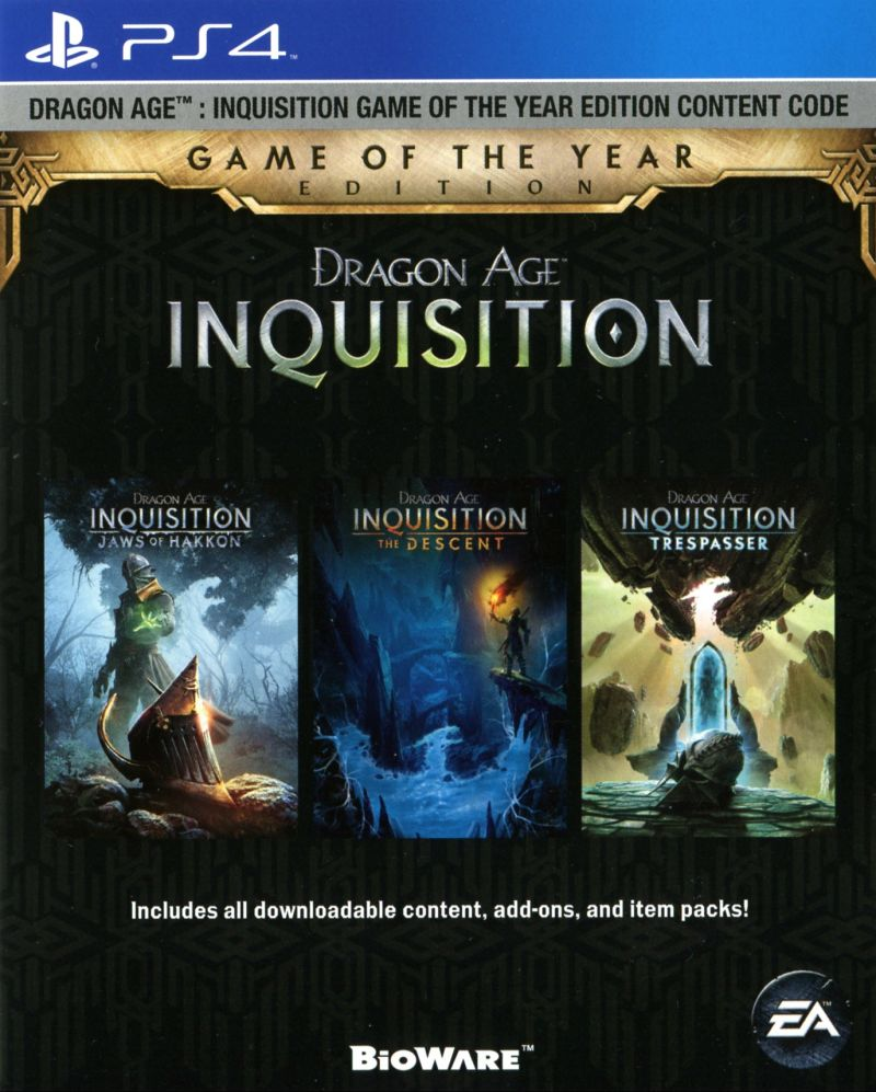 Dragon Age Inquisition - Game of The Year Edition Ps4 for ...