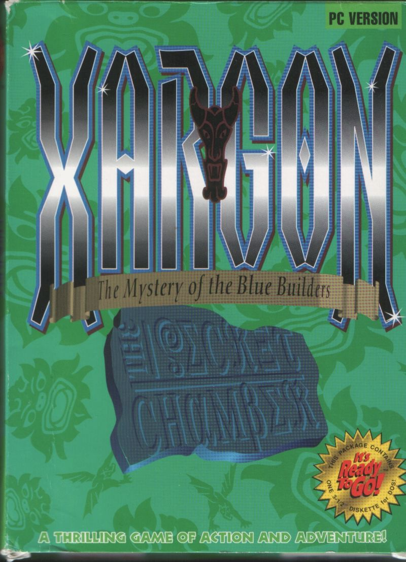Xargon: The Mystery of the Blue Builders - The Secret Chamber DOS Front Cover